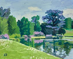 Claremont In May by Leila Barton - Original Painting, Canvas on Board sized 20x16 inches. Available from Whitewall Galleries